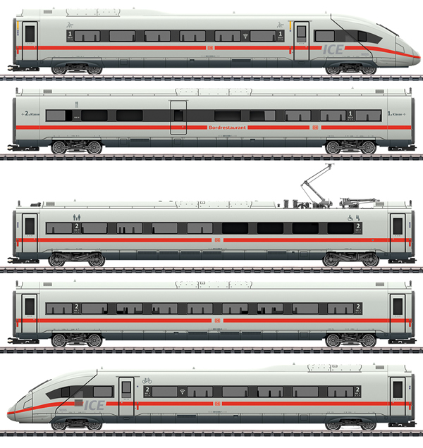Marklin 39714 - German  Powered Railcar Train Class 412/812 of the DB AG (Sound)