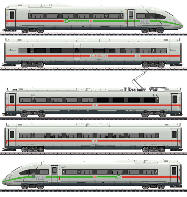 Marklin 39716 - German High Speed Train ICE 4 of the DB AG