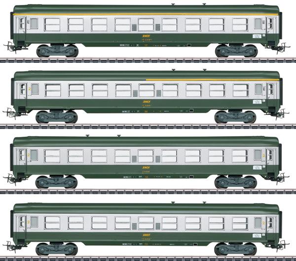 Marklin 40691 - French Era III Tin Plate Passenger Car Set (Exclusive 30 Year MHI Model)