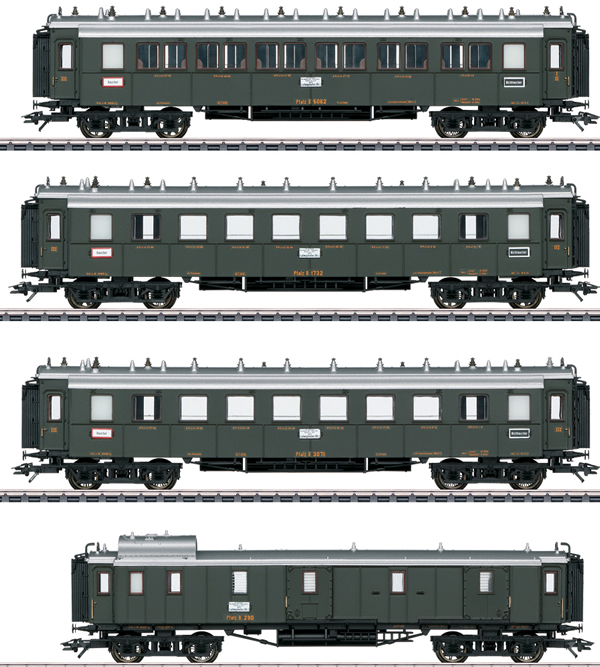 Marklin 41354 - Palatine Railroad Express Train Passenger 4-Car Set, Era I