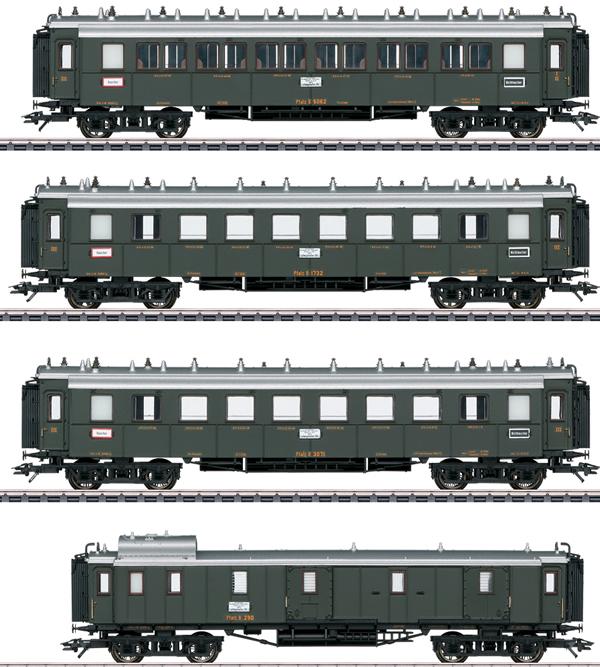 Marklin 41354 - Palatine Railroad Express Train Passenger 4-Car Set, Era I