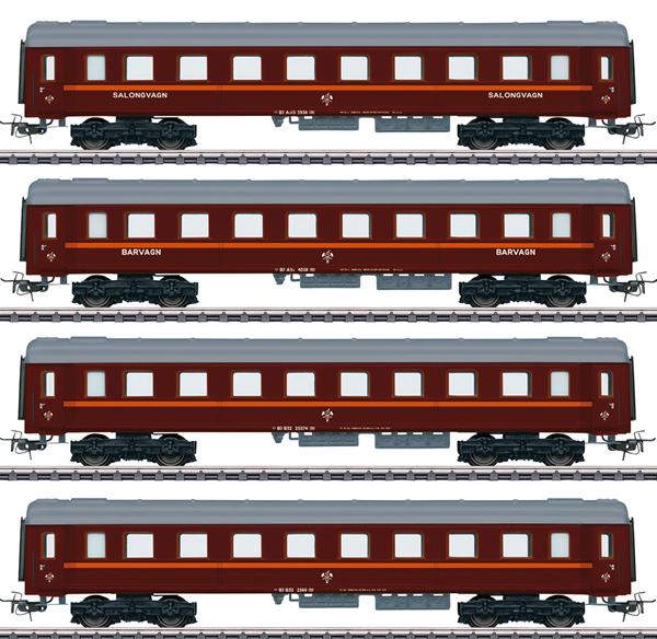 Marklin 41921 - Swedish Passenger Cars-Set z. Reihe Da