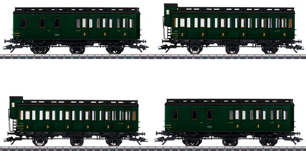 Marklin 42042 - French Compartment Car Set of the SNCF