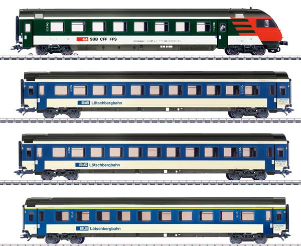 Marklin 42175 - BLS Mark IV Express Train Passenger 4-Car Set, Era V