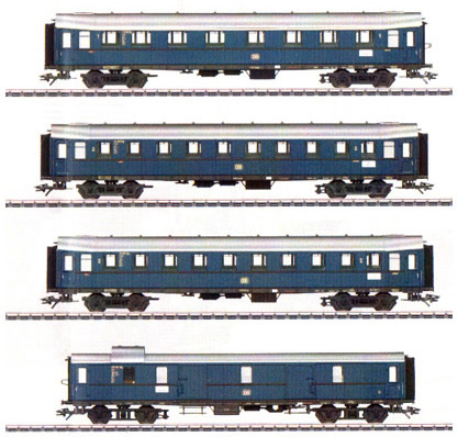 Marklin 42228 - German Passenger Car Set of the DB
