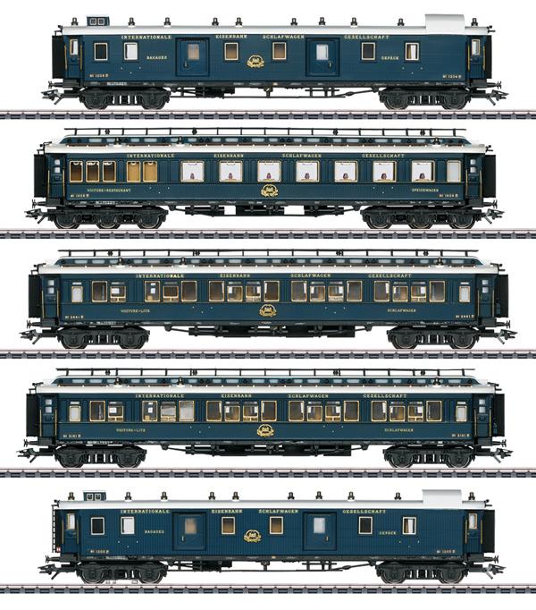 """Marklin 42790 - """"Simplon Orient Express"""" Express Train Passenger Car Set 1"""