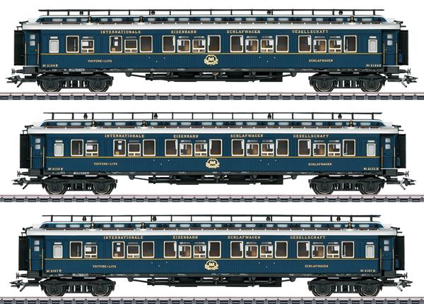 """Marklin 42791 - """"Simplon Orient Express"""" Express Train Passenger Car Set 2"""