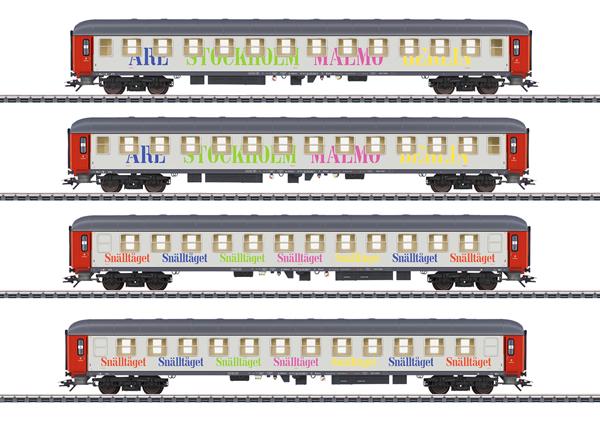 Marklin 42906 - SE Snälltåget Passenger 4-Car Set, Era VI