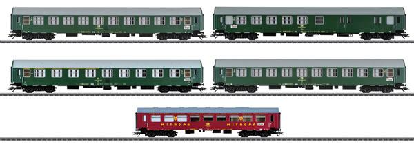 Marklin 42980 - Inter-Zone Express Train Passenger Car Set, Type Y/B 70