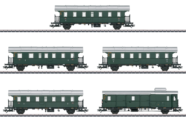Marklin 43141 - German Passenger Car Set of the DB