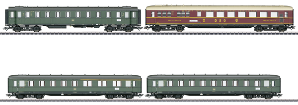 Marklin 43279 - 4pc Express Passenger Car Set for BR 18 505