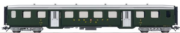 Marklin 43362 - SBB Lightweight Steel Passenger Car, 2nd Class, Era III