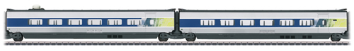 Marklin 43426 - 2pc French TGV POS Add-on Car Set 1 of the SNCF