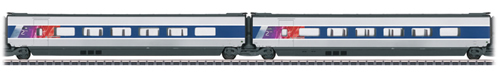 Marklin 43436 - 2pc French TGV POS Add-on Car Set 2 of the SNCF
