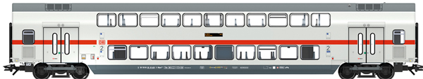 Marklin 43484 - DB AG IC2 Bi-Level Intermediate Car, 2nd Class, Era VI