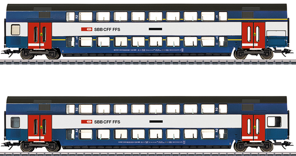 Marklin 43574 - Swiss Bi-Level Car-Set, S-Bahn Zürich of the SBB