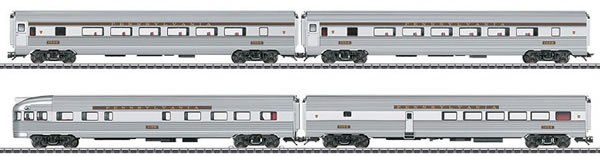 Marklin 43616 - 4pc Streamliner Passenger Car Set