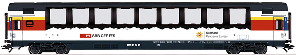 Marklin 43650 - SBB Gotthard Panorama Express Passenger 3-Car Set., Era VI