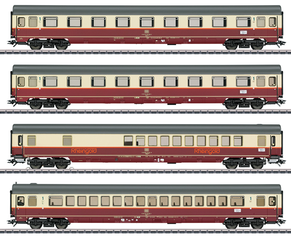 Marklin 43849 - Rheingold Offshoot Train Passenger Car Set - Marklin Club