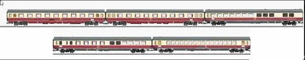 Marklin 43856 - German TEE Parsifal 5 Car Passenger Set (2017 Insider Club Model)