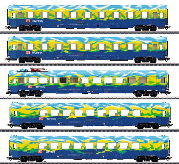 Marklin 43878 - DB AG Touristik Train Passenger 5-Car Set, Era V