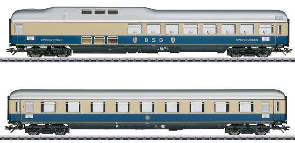 Marklin 43882 - Rheinpfeil 1963 Express Train Passenger Car Set 2