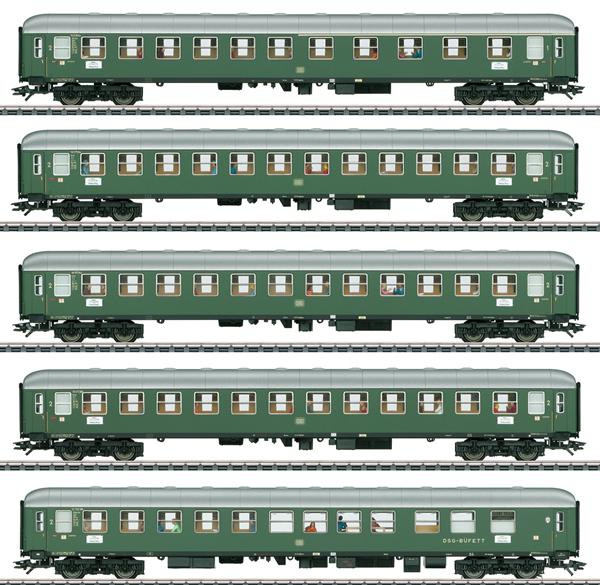 Marklin 43935 - 5pc Express Passenger Train Set 1 D96 Isar-Rhone - INSIDER MODEL
