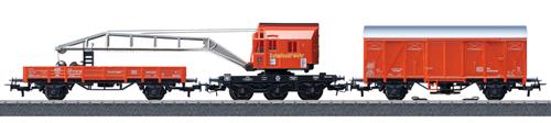 Marklin 44752 - German Fire Dept Recovery Crane Car Set  - Start up