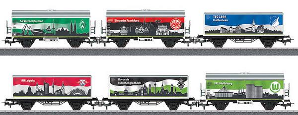 Marklin 44814 - 6pc Bundesliga Freight Car Set - Set #3