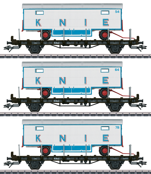 """Marklin 45085 - """"100 Years of the Swiss National Circus Knie"""" Flat Car Set"""