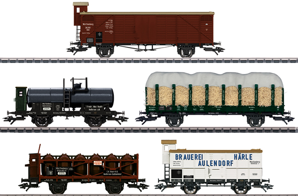 Marklin 45175 - German Freight Car-Set, 5 cars of the W.St.E.