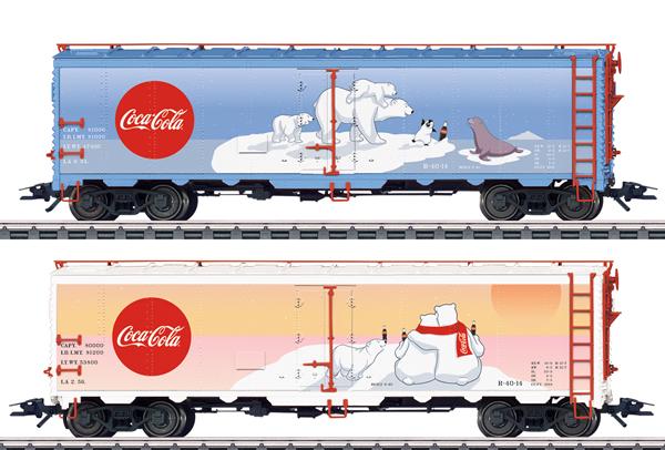Marklin 45687 - Coca Cola® American Refrigerator 2-Car Set