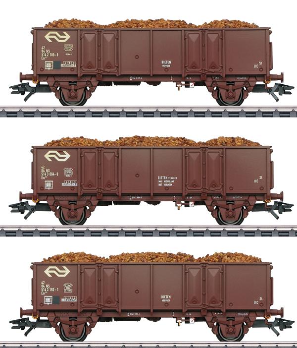 Marklin 46019 - NS Type Eo High Side Gondola Set, Era IV