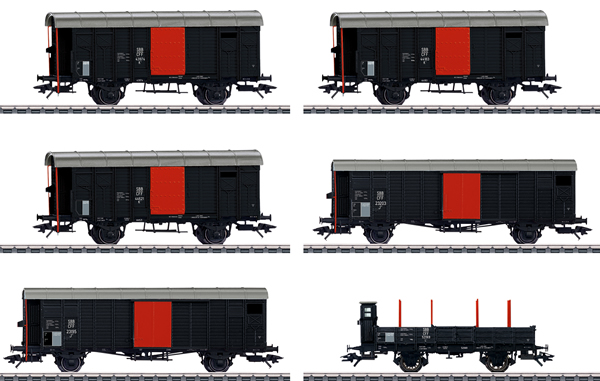 Marklin 46050 - Freight Car Set for the Swiss Köfferli Locomotive