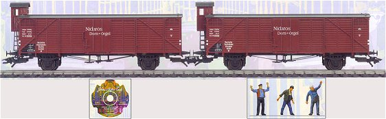 Marklin 46158 - 2pc Church Organ Transport Car Set
