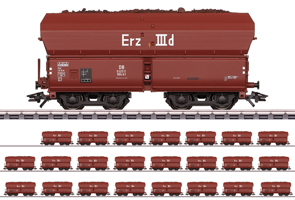 Marklin 46210 - DB Type Erz IIId Hopper 24-Car Set Display, Era III
