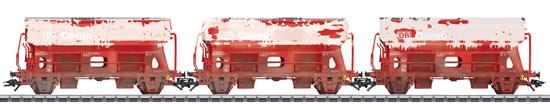 Marklin 46304 - 3 German Railroad, Inc. type Tds side dump cars