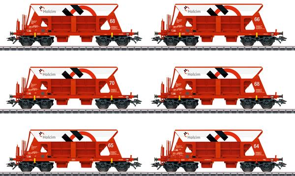 Marklin 46333 - Swiss Gravel Car-Set, 6 Cars of the SBB