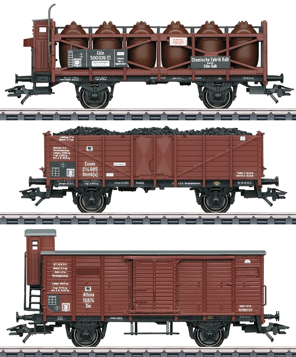 Marklin 46394 - German Freight Car-Set of the KPEV
