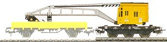 Marklin 4671 - CRANE CAR W/OPERATING CRANE DB