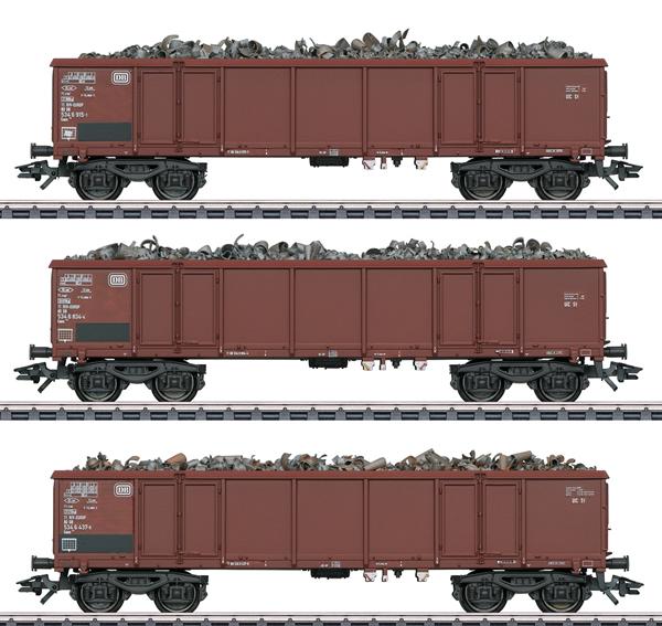 Marklin 46914 - DB Type Eaos 106 Freight 3-Car Set, Era IV