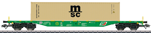 Marklin 47066 - KLV Type Sgnss Container Transport Car, Era VI