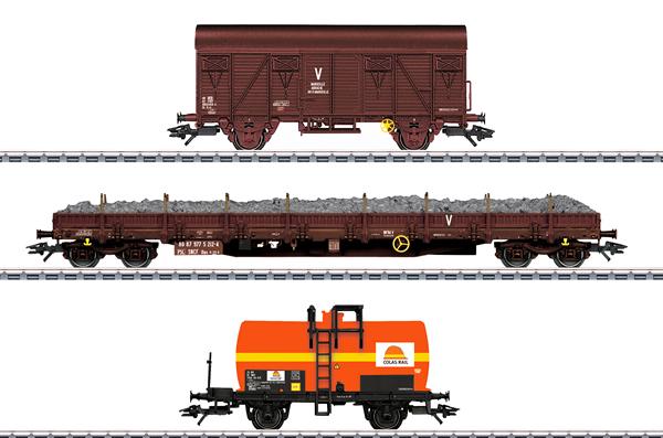 Marklin 47103 - Colas Rail Freight 3-Car Set, Era VI