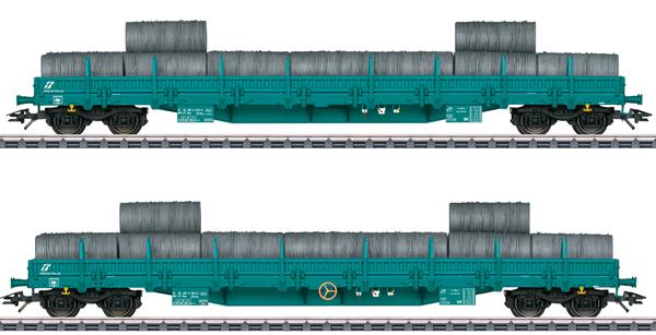 Marklin 47107 - Type Res Low Side Car Set