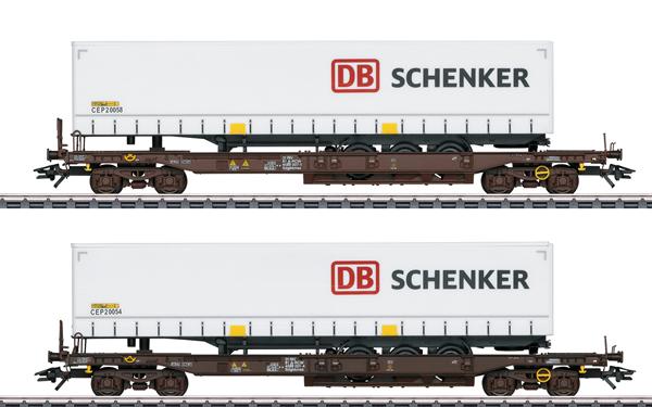 Marklin 47110 - DB Schenker Deep Well Flat 2-Car Set, Era VI
