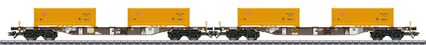 Marklin 47130 - DB KLV Type Sgns Container Transport 2- Car Set, Era VI