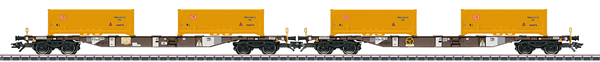 Marklin 47131 - DB KLV Type Sgns Container Transport 2- Car Set, Era VI