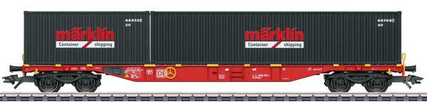 Marklin 47133 - Marklin Type Sgns 691 Container Flat Car