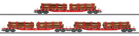 Marklin 47144 - Set with 3 Type Snps Stake Cars