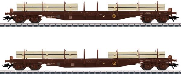 Marklin 47150 - Austrian Lumber Flat 2-Car Set of the ÖBB